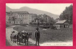 02 38 ISERE URIAGE, Les Hôtels De La Station, Animée, Attelage De Boeufs, (L. L.) - Uriage