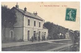 Saint Martin D'Estréaux - La Gare (les Feuillets Ont été Recollés) - France