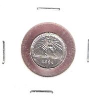 GUATEMALA 1/4 REAL 1884 SILVER UNC. - Guatemala