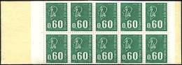 1815-C2 Béquet, 0,60 Vert, SANS PHOSPHO, TB, Cote 400 - Booklets