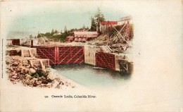 CARTE POSTALE : USA . OREGON . CASCADE LOCKS . COLUMBIA RIVER . - Etats-Unis