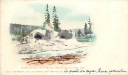 CARTE POSTALE : YELLOWSTONE NATIONAL PARK . CRATER OF THE GROTTTO GEYSER . - Yellowstone