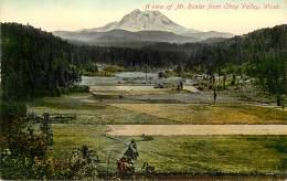 CARTE POSTALE : SPOKANE . WASHONGTON . A VIEW OF MT RANIER FROM OHOP VALLEY . - Spokane