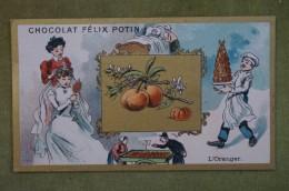 Félix POTIN - Chromo Sujet Botanique - Nature - L'Oranger - Imp Champenois - Cioccolato