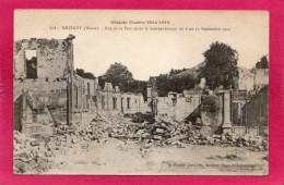 55 MEUSE REVIGNY, Guerre 14-18, Rue De La Paix Après Le Bombardement, 1918, (A. Humbert) - Guerre 1914-18
