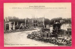 55 MEUSE REVIGNY, Guerre 14-18, Rue De Vitry Et L'Hôel De Ville Après Le Bombardement, 1918, (A. Humbert) - Guerre 1914-18