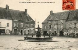HENRICHEMONT - 18 - Un Quartier De La Place - Hôtel Boeuf - Charcuterie - 78377 - Henrichemont