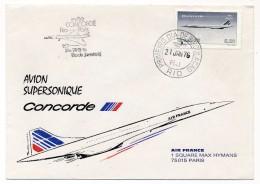 BRESIL => Premier Vol CONCORDE - Rio De Janeiro - Paris - 21 Janvier 1976 - Brésil