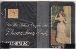 MONACO - La Danse A La Ville, Painting/Auguste Renoir, Tirage 11000, 04/91, Mint - Monaco
