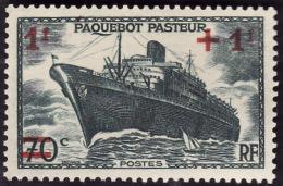 FRANCE   -  1941 - YT. 502  -  Paquebot Pasteur   -  NEUF** - France