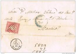 18619. Carta Entera HIENDELAENCINA (Guadalajara) 1857 - Storia Postale