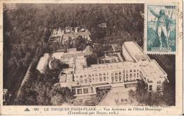 LE TOUQUET PARIS PLAGE VUE AERIENNE DE L´HOTEL HERMITAGE - Le Touquet