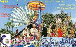 LAOS 500 U WOMAN  VISIT LAOS 1999  TAMURA  READ DESCRIPTION !! - Laos