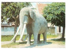 CPSM SAINTE GENEVIEVE DES BOIS 91 HAMEAU DE LIERS ELEPHANT EN BETON DE 4 TONNES - Sainte Genevieve Des Bois