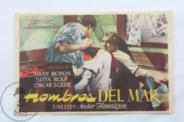 Old Cinema/ Movie Advtg Image - Movie: Valfangare,  Actors:  ALLAN BOHLIN, TUTTA ROLF, OSCAR EGEDE-NISSEN - Publicidad
