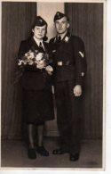 MILITARIA Un Couple En Uniforme Militaire (scans Recto Et Verso) - Breisach