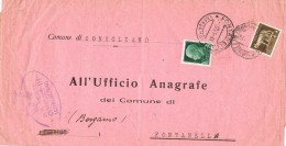 18625. Carta Impresos  CONEGLIANO (Treviso) 1941 A Fontanella. Emigrazione - Storia Postale