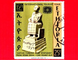 ETIOPIA - Usato - 1967 - Anno Internazionale Del Turismo 1967 - Atsbe Dera - Trono - Votive Throne  - 25 - Etiopia