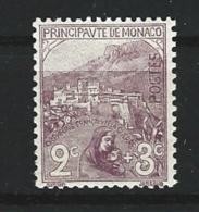 """Monaco YT 27 """" Orphelins 2c. +3c. Violet-brun """" 1919 Neuf * - Neufs"""