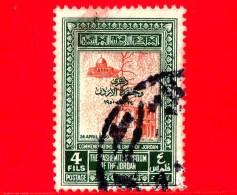 GIORDANIA - JORDAN - Usato - 1952 - Unificazione Con La Palestina (1950) - 4 F - Jordanie