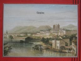 Genf (GE) - Künstlerkarte Nach Historischem Stich - GE Ginevra