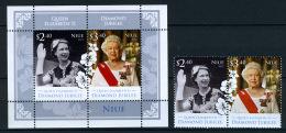 2012 - NIUE - Mi. Nr. 1196/1197 + BL 167 -  NH - ( **) - (K-EA-361368.11) - Niue