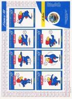 France 98 Feuillet FOOTIX Un Timbre Adhésif France 98 Et 7 Vignettes Footix Réf Y&T N° 3140a - Blocs Souvenir