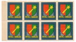 """FRANCE => Vignettes """"RHIN Et DANUBE"""" -  Bloc De 8, Neuves Et TB - Vignettes Militaires"""
