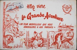 BUVARD ANCIEN - La Grande Aventure - Film Merveilleux - Prix International CANNES 1954 - Bon Etat - - Cinéma & Théatre