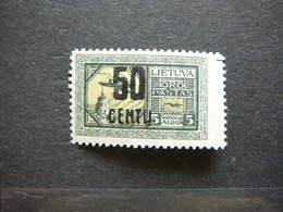 Lietuva Litauen Lituanie Litouwen Lithuania # 1922 * MH # Mi. 184 - Lituanie