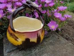 PANIER EN FAÏENCE Haut 18cm Anse Comprise- SAINT-JEAN-DU-DESERT MARSEILLE.L BERTY Voir Signature  (cigale) - Ceramics & Pottery