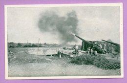 Foto-cartolina - La Marina Italiana Nella Guerra Europea (Batteria Della R. Marina In Azione) - MIL27 - Guerra, Militari