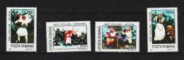 1995 - Masques Populaire Mi No 5156/5158 Et Yv No 4304/4307 - 1948-.... Republiken