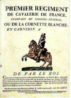 Histoire   H36       Révolution. Premier Régiment De Cavalerie De France - Geschichte