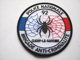 INSIGNE TISSUS PATCH POLICE NATIONALE LA BAC DE CLICHY LA GARENNE 92 ETAT EXCELLENT - Police & Gendarmerie