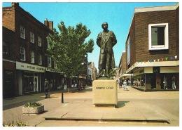 RB 1105 - J Salmon Postcard - Edward Elgar Statue - Worcester - Music Theme - Worcestershire