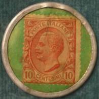 M_p> CURIOSITA´ Gettone / Token Con Francobollo Da 10 Centesimi - Banca Agricola Italiana - Monetary/Of Necessity