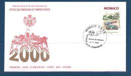 Env Fdc Monaco 9/5/2000, N°2251 Y Et T, Grand Prix Historique Sur Le Circuit Automobile De Monaco, Voitures Anciennes - FDC
