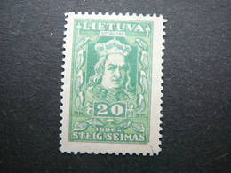 Lietuva Litauen Lituanie Litouwen Lithuania # 1920 MH # Mi. 78 - Lituanie