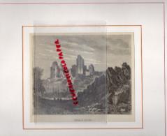 87 - CHALUCET - CHALUSSET - GRAVURE XIXE SIECLE - CHATEAU  ENCADREE - Prints & Engravings