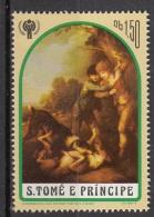 "632e S. Tomè E Principe 1981 "" ...Boys With Two Dogs... ""  Quadro Dipinto Da T. Gainsborough Rococo Paintings Nuovo MNH - Moderne"