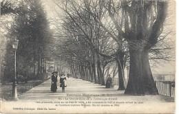 BESANCON HISTORIQUE .80. LA GRANDE ALLEE DE LA PROMENADE MICAUD + HISTORIQUE . ECRITE AU VERSO EN 1918. FRANCH MILIT - Besancon