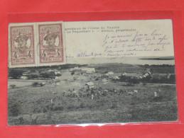 """MARTINIQUE  /  SAINT PIERRE   1902  VAUCLIN / DEPENDANCES DE L USINE """" LE PAQUEMART"""" FAMILLE ASSELIN    CIRC NON - Other"""
