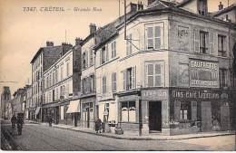 """94 - CRETEIL :  Grande Rue - Bon Plan Café """" AU BON COIN """" ( Pub Murale Gaufrettes """" LU """" ) CPA - Val De Marne - Creteil"""