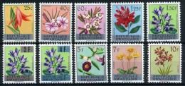 Rwanda**FLOWERS-OVERPRINTS/SURCHARGES-10vals-1963-Cat 20€/23$-Fleurs-bloemen-Blumen-Flores-Fiori-FLORA - 1962-69: Nuevos