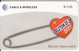 PANAMA(chip) - Teleton 2000, Chip GEM3.3, Tirage 50000, Used - Panama