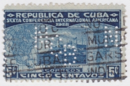 "1928-85 CUBA REPUBLICA. 1928. Ed.225. 5c. PERFINS ""NCB"" NATIONAL CITY BANK OF NEW YORK. - Cuba"