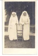 2  COMMUNIANTES   A POURRAIN  18 JUIN 1919  VAUX PAR AUXERRE  CARTE PHOTO - Anonymous Persons