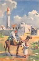"""05877  """"LIBIA - MOSCHEA DI SOLUCH - DA UN ACQUERELLO DI G. BONELLI"""" CART. ILL. ORIG. SPEDITA 1956 - Libia"""