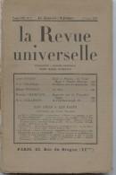 La Revue Universelle, Royaliste,action Française, Massis, Daudet,Cousteau, Pourrat, Chaminade, Pailleron - Books, Magazines, Comics